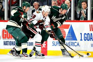Jonathan Toews' Hawks ruled the NHL; Zach Parise, Ryan Suter and the Wild barely made the playoffs.