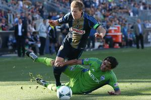 Rough play was the name of the game between the Sounders and Union, which finished in a 2-2 draw.