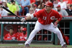 Joey Votto leads the majors in walks and OBP but has driven in just 22 runs while hitting third in the Reds' lineup.
