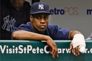 Curtis Granderson, who broke his forearm this spring, played eight games before breaking his knuckle.