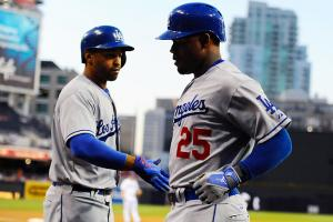 L.A.'s outfield took a big hit when hamstring injuries landed Matt Kemp and Carl Crawford on the DL.