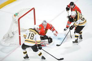 The injury status of Nathan Horton (day-to-day) will have a major effect on the Bruins' offense.