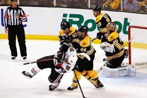 The Hawks can expect rough treatment if they storm Boston goalie Tuukka Rask as they did in Game 4.