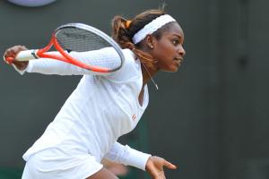Sloane Stephens played well to get to the Wimbledon quarterfinals, but faltered in a crucial match.