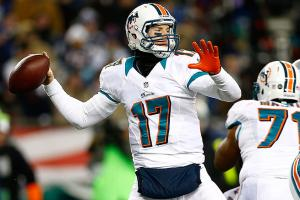 Ryan Tannehill threw for 3,284 yards and 12 touchdowns last season, but he threw 13 interceptions.