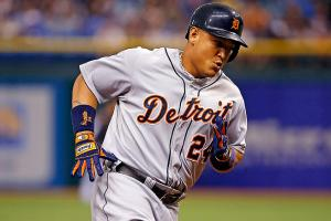 Miguel Cabrera is hitting .358 with 31 homers and 96 RBI, and currently leads the AL MVP race.