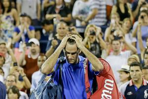 Roger Federer's loss prevented him from meeting Rafael Nadal for the first time at the U.S. Open.