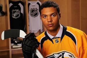 Fans can get their first look at Seth Jones in action as a Predator this week. (Bill Wippert/Getty Images)