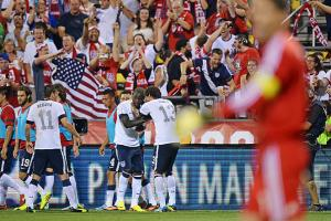 Eddie Johnson scored and the U.S. received raucous support in a 2-0 victory over Mexico in Columbus.