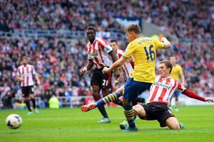 Aaron Ramsey scored two goals against Sunderland on September 14.