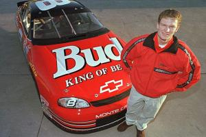 Dale Earnhardt, Jr. in 1999, on the eve of his first Cup series start, which took place at Charlotte.