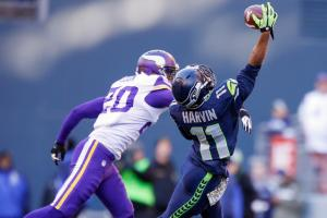Percy Harvin played only 16 snaps in his Seahawks debut, finishing with one catch and one kick return.