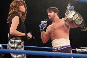 Dixie Carter argues with TNA world champion A. J. Styles over his expired contract.
