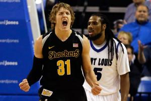 At just 6-foot-3, Ron Baker is leading the Shockers in blocks and grabs 4.6 rebounds a game.
