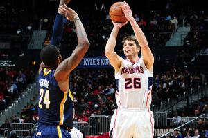 Kyle Korver is shooting 49.5 percent from the field, 47.3 percent from deep and 90 percent from the line.
