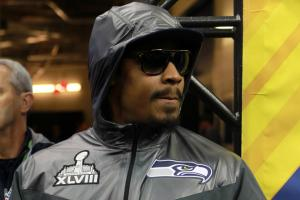 Marshawn Lynch has made it very clear he doesn't like talking to the media, and was fined by the NFL late in the season for failing to fulfill his media obligations.