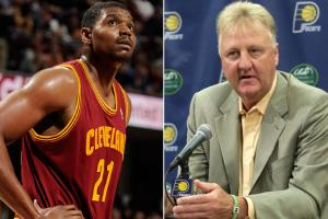 Larry Bird and the Pacers are taking a chance on Andrew Bynum, signing him for the rest of the season.