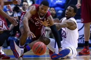 Andrew Wiggins struggled in the tourney, finishing with six points (1-of-6 shooting) in KU's finale.