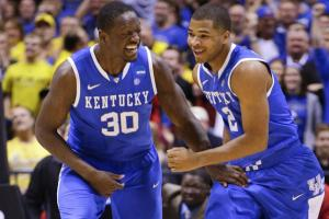 Julius Randle and Aaron Harrison are both benefiting from Kentucky's run through the NCAA tourney.