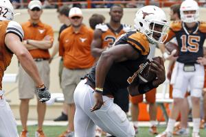 Sophomore quarterback Tyrone Swoopes was looking to impress at the Texas Spring game.