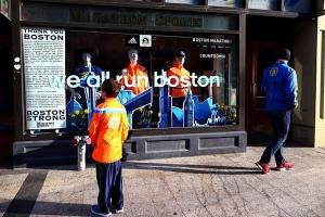 Marathon Sports, positioned nearby the finish line of the Boston Marathon, suffered severe damage in the bombing.