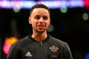 TORONTO, ON - FEBRUARY 14:  Stephen Curry #30 of the Golden State Warriors and the Western Conference warms up prior to the NBA All-Star Game 2016 at the Air Canada Centre on February 14, 2016 in Toronto, Ontario. (Photo by Elsa/Getty Images)