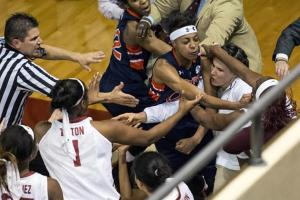 Brawl at Auburn-Alabama women's hoop game results in th...