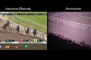 Watch American Pharoah, Secretariat run side-by-side