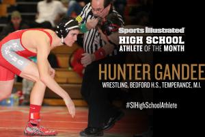 Hunter Gandee named high school athlete of the month
