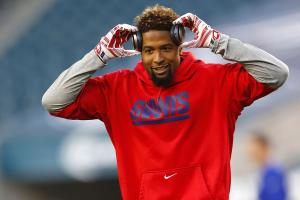 Giants WR Odell Beckham Jr. says hamstring is improving