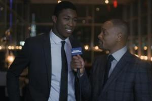 Sportskid of the Year interviewed by actor Will Smith