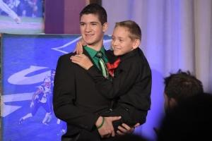 Hunter Gandee walked 57 miles with his brother Braden o...