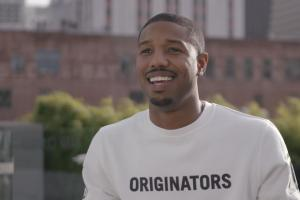 Michael B. Jordan talks getting punched in the face in...