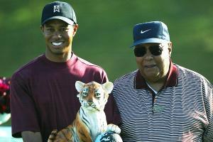 Did Earl Woods' predict Tiger's career major total?