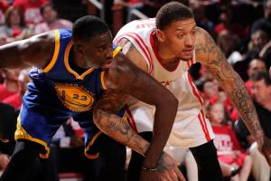 Curry-less Warriors lose to Rockets on last-second shot