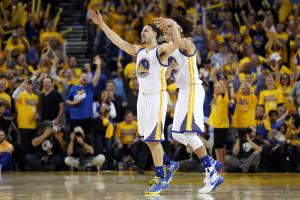 Curry-less Warriors take series against Rockets