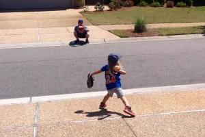 5-year old Mini Thor pitches like Noah Syndergaard
