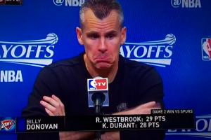Billy Donovan plays dumb about end of Thunder-Spurs gam...