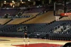 Sad Kyle Lowry practiced shooting till 1am after Raptor...
