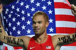 Olympic runner sells ad space on his shoulder for $21,8...
