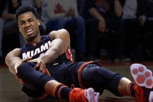 Valanciunas out for series, Whiteside has MCL sprain