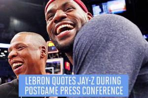 LeBron James quotes Jay Z