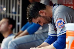 Matt Harvey struggles, skips out on media after game
