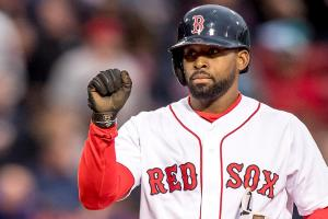 Jackie Bradley Jr. extends hitting streak to 28 games