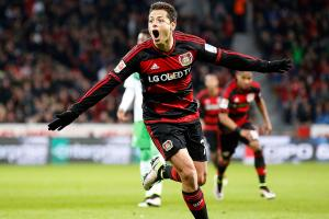 Looking at Mexican forward Javier 'Chicharito'  Hernand...