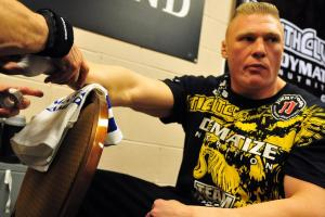 Report: Brock Lesnar finalizing deal to fight at UFC 20...