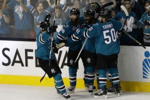 Sharks take Game 3 in OT, cutting series deficit to 2-1