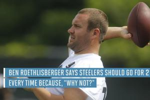 Ben Roethlisberger wants Steelers to go for two after e...