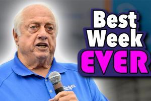 Why Tommy Lasorda is having the best week ever!