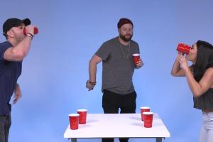 Ballplayer turned rapper Mike Stud plays Flip Cup